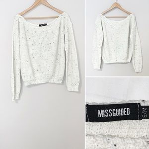2/$30  Missguided Cream Knitted Sweater - Small